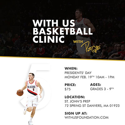Pat Connaughton '11 will host a one-day clinic at SJP on February 19