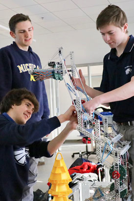 SJP Robotics prepares for competition on January 20.