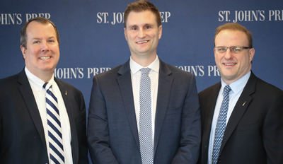 Jameson Pelkey has been named the new athletic director at St. John's Prep